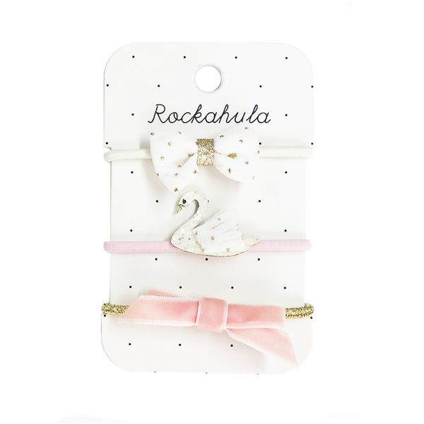 Elastiques Sophia le cygne et paillettes x3 Rockahula Kids accessoire fille