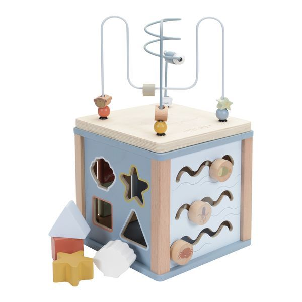 Cube d'activités en bois Océan - Little Dutch