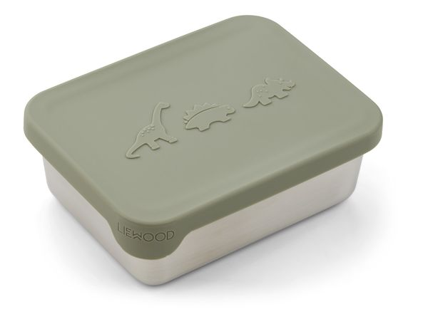 Petite boîte à goûter Ako - Dino faune green - Liewood