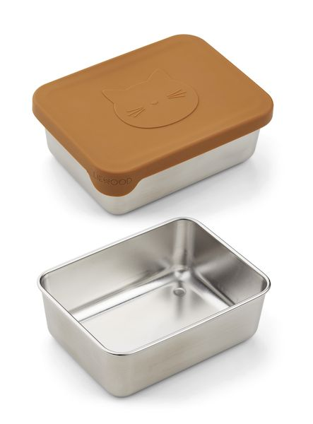 Petite boîte à goûter Ako - Cat Mustard - Liewood