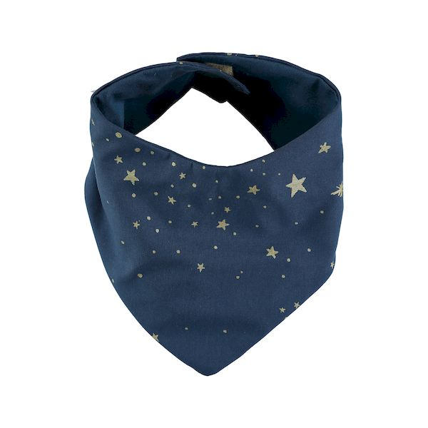 Bavoir bandana Lucky - Gold stella / night blue - Nobodinoz