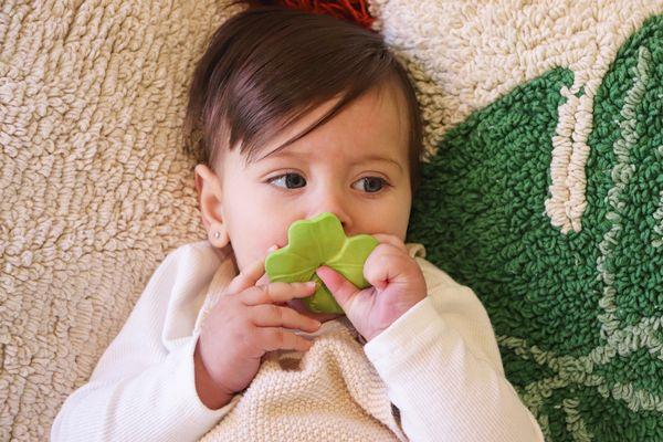 Mini jouet de dentition chewy - Eli le trèfle - Oli & Carol