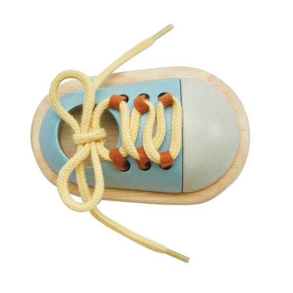 Chaussure à lacer en bois - Plan Toys