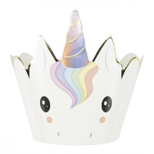 Caissettes pour cupcakes Baby Licorne x6