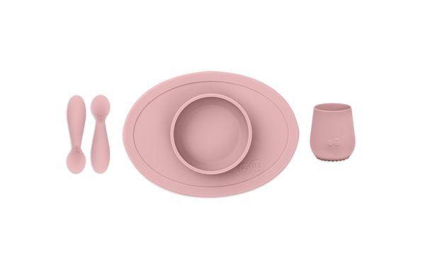 Coffret premier repas Silicone Rose poudré - EZPZ