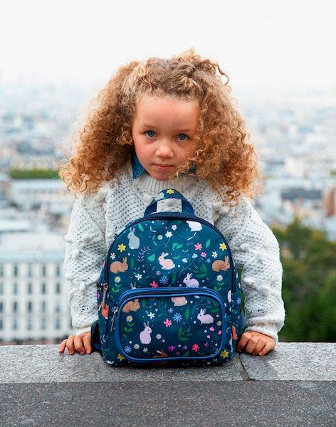 Petit sac à dos Lapins bleu - Caramel & cie
