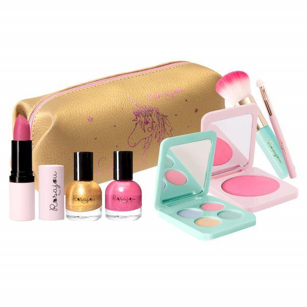 Panoplie de maquillage dorée Luxe - Rosajou