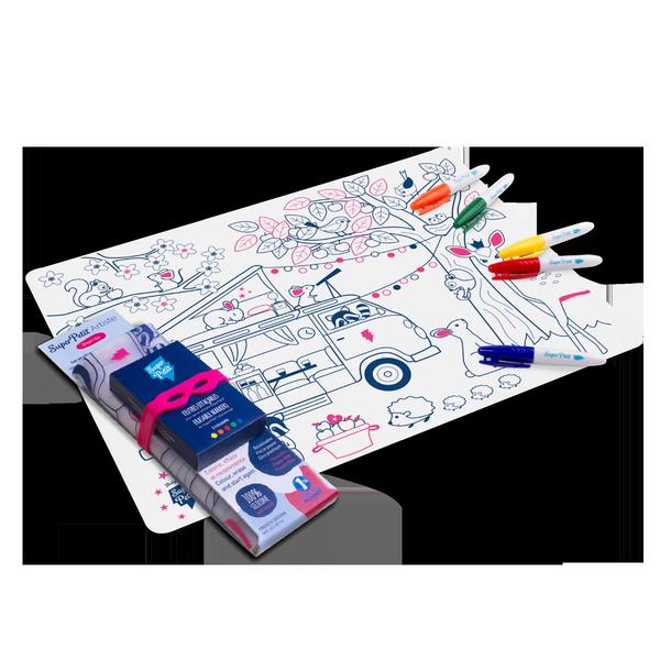 Set à colorier silicone Dream Van - Super Petit