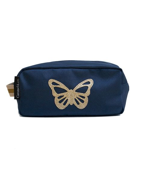 Trousse de toilette Papillon bleu - Caramel & cie