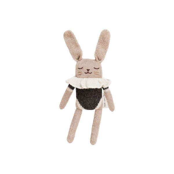 Doudou lapin maillot noir - Main sauvage