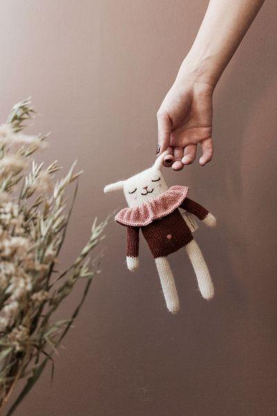Doudou agneau blouse sienne - Main sauvage