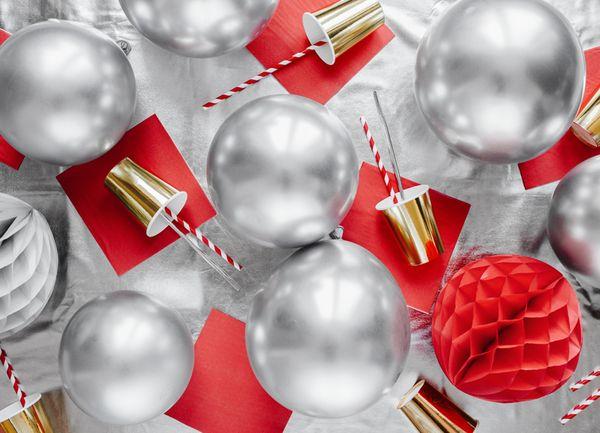 Ballon Argent Brillant - 30 cm