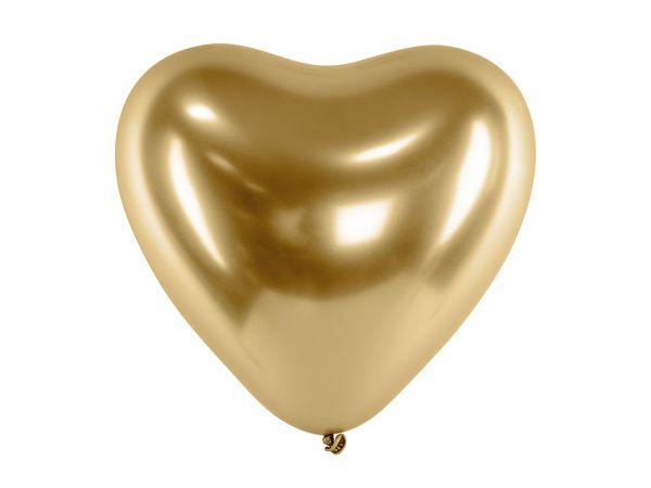 Ballon Coeur brillant doré 30 cm