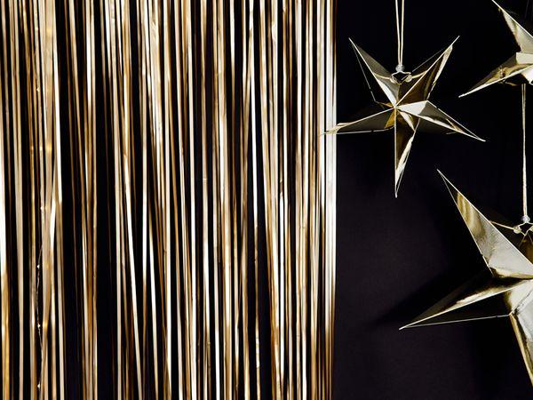 Rideau lamé doré Backdrop - 90 x 250 cm