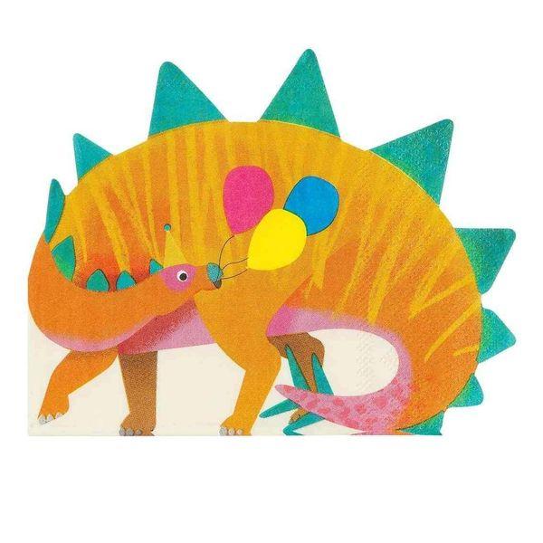 Serviettes en forme de Dinosaure x16 - Talking Tables