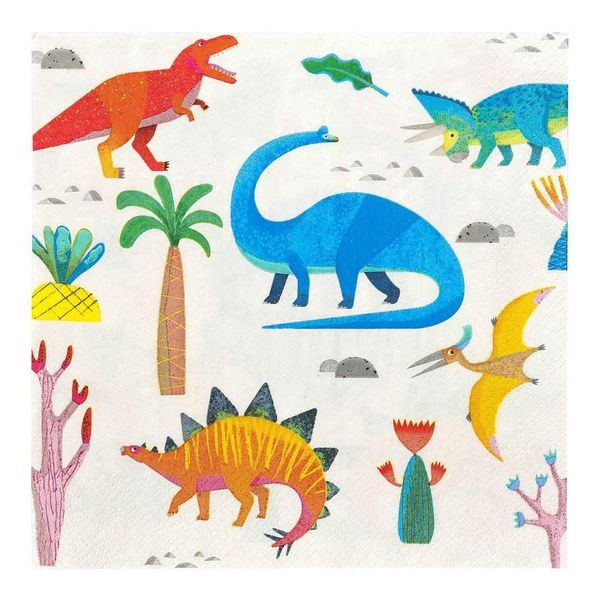 Serviettes Dinosaures en fête x20 - Talking Tables