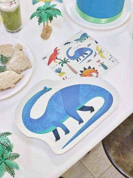 Assiettes en forme de Dinosaures x12 - Talking Tables