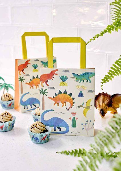 Sacs cadeaux Dinosaures en fête x8 - Talking Tables
