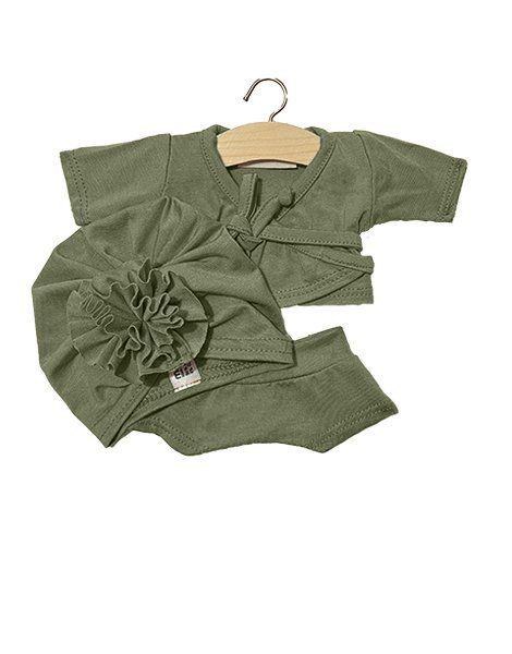"Ensemble ""AMY"" shorty en jersey Vert amande - Minikane"