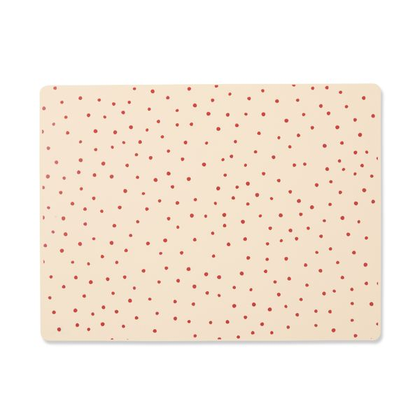 Set de table en silicone - Raspberry/Red dot - Konges Sløjd