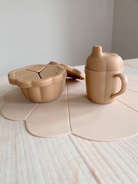 Set de vaisselle en silicone Calm - Terracotta - Konges Sløjd