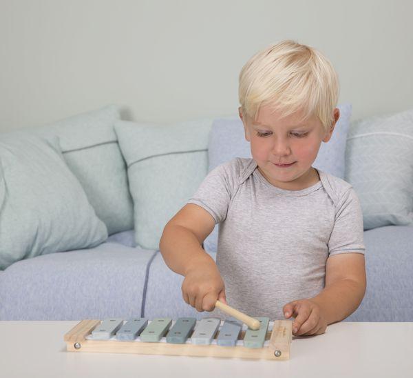 Xylophone en bois Blue - Little Dutch