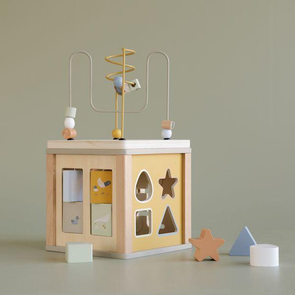 Cube d'activités en bois Olive - Little Dutch