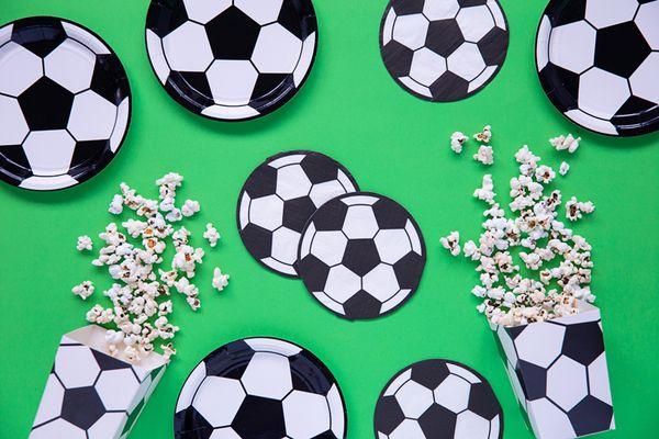 Serviettes ballon de Football x20 - 13,5 cm