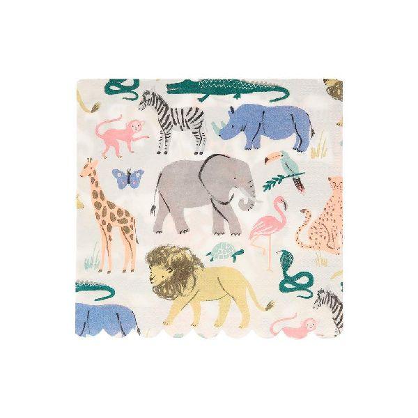 Serviettes Animaux Safari x20 - Meri Meri