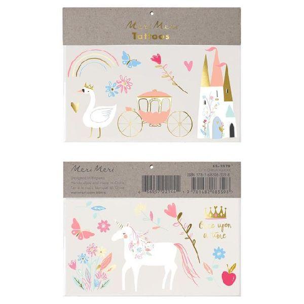 Set de 2 grandes planches de tatouages Princesses magiques - Meri Meri