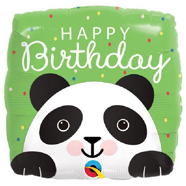 "carré Panda ""Happy Birthday"""