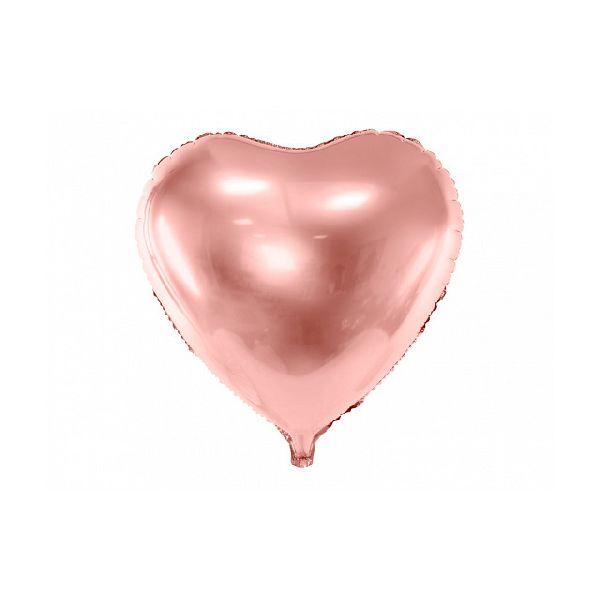 Ballon Coeur brillant Rose gold 30cm