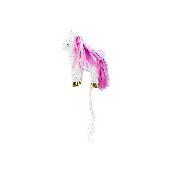 Pinata Licorne rose et blanc - 24,5 x 34 x 9 cm