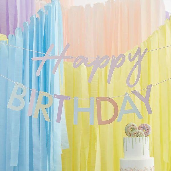 "Guirlande ""Happy Birthday"" pastel - Ginger Ray"