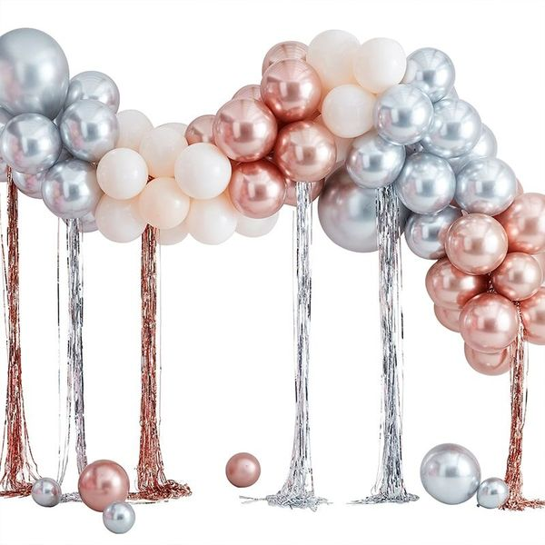 Kit pour guirlande de ballons métallisés + serpentins - Ginger Ray