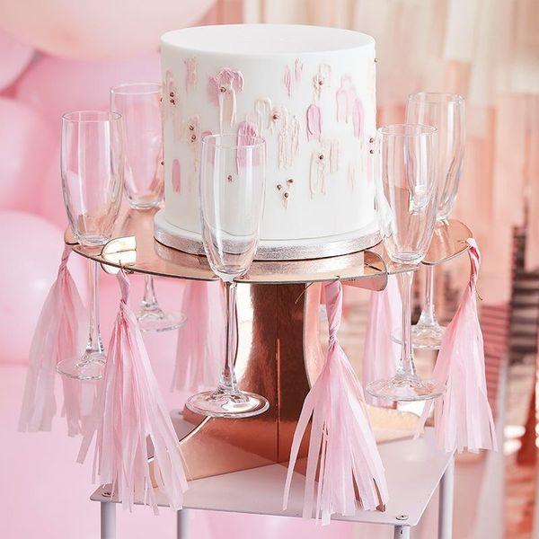 Présentoir à gâteau Rose gold avec support à verres - Ginger Ray