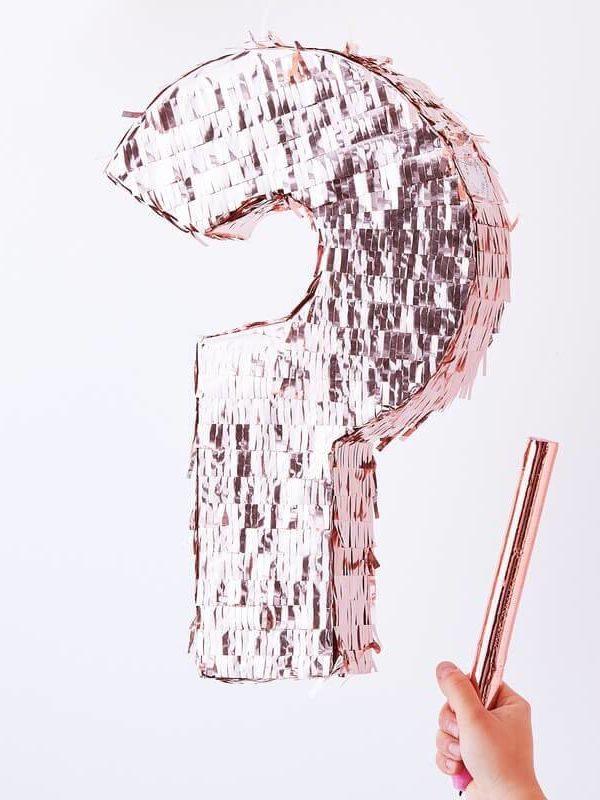 Pinata Gender Reveal rose gold - 45 x 28 cm - Ginger Ray