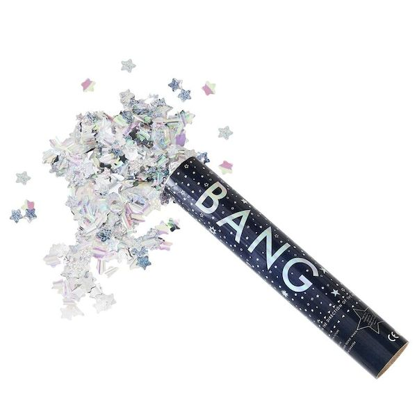 Canon à confettis Géant étoiles irisées - Ginger Ray