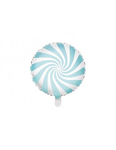 Ballon Sucette Bleu pastel - 35 cm