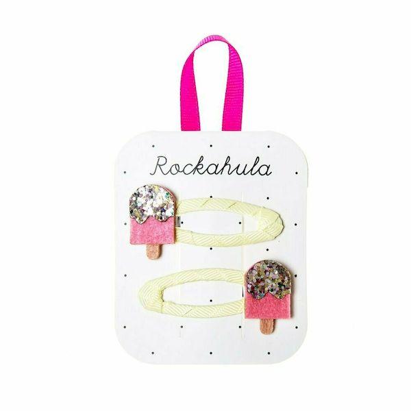 Barettes Glaces scintillantes x2 - Rockahula Kids