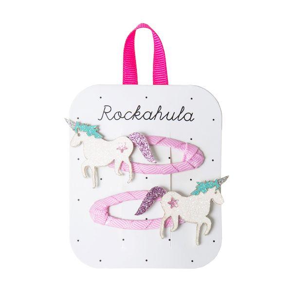 Barrettes Licorne scintillantes x2 - Rockahula Kids