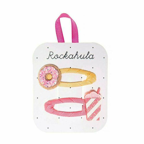 Barrettes Milkshake & Donut pailletées x2 - Rockahula Kids