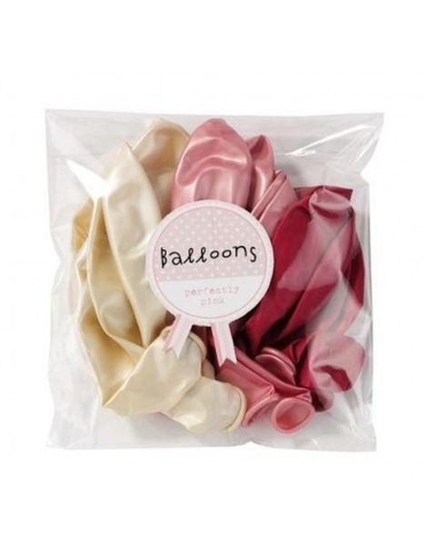Mix ballons rose & blanc x12 - Talking Tables