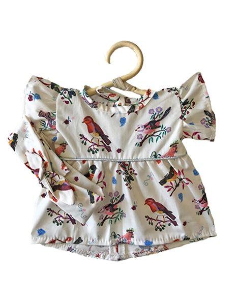 "Robe Daisy et son headband en coton ""Little Birds"" Nathalie Lété - Minikane"