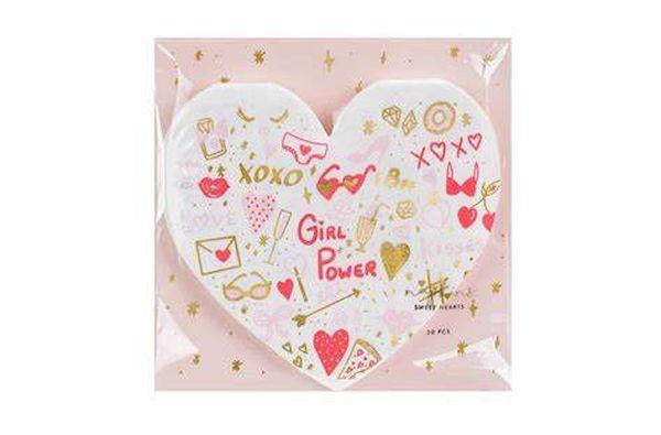 "Serviettes Cœur ""Girl Power"" x20"