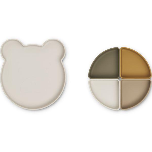 Assiettes à compartiments Arne - Mr Bear Sandy Multi Mix - Liewood