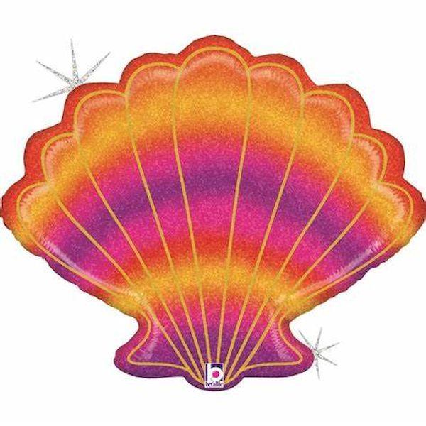 Ballon Coquillage Scintillant 76 cm Grabo déco fête anniversaire enfant sirène