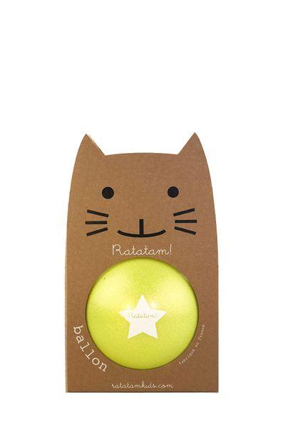 Ballon Jaune Summer Paillettes 15 cm Ratatam! balle increvable enfant cool