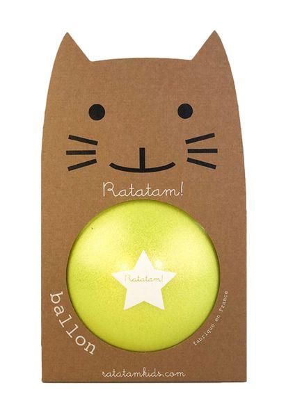 Ballon Jaune Summer Paillettes 22 cm Ratatam! balle increvable enfant cool