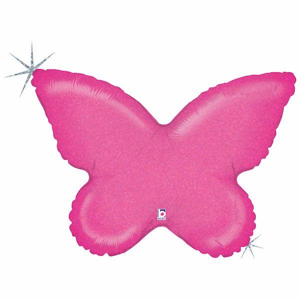 Ballon Papillon Rose 76 cm Grabo accessoire déco fête anniversaire